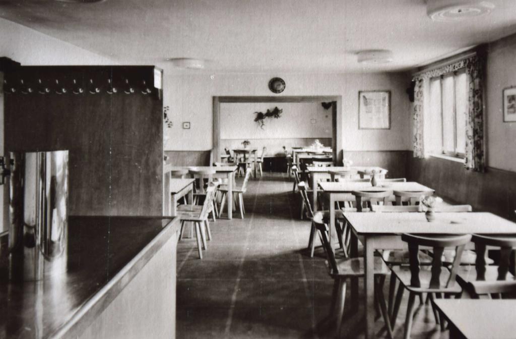 Die Gaststube in den 1950er Jahren