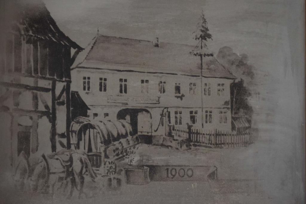 Gezeichnete Hausansicht 1900